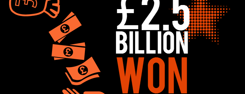£2.5 Billion won in 2 years!