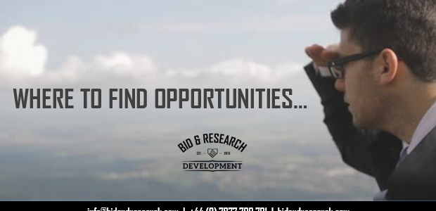 Where to find Bid/Tender opportunities…